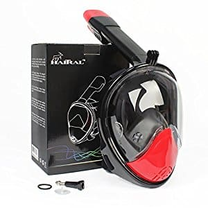 Save up to 30% Off-HAITRAL Full Face Snorkel Mask L-XL $21.69 @Amazon