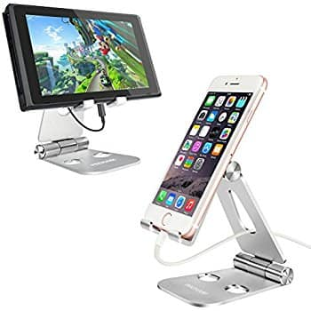 Foldable Adjustable Aluminum Cell Phone, Tablet, Nintendo Switch and Kindle Stand Mount $10.94 @Amazon