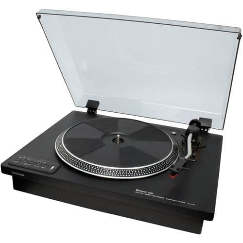 Toshiba - Bluetooth Stereo Turntable - Black $79.99 + fs