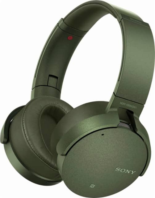 Sony - XB950N1 Extra Bass Wireless Noise Canceling Headphones - Black/Green/Titanium $114.99