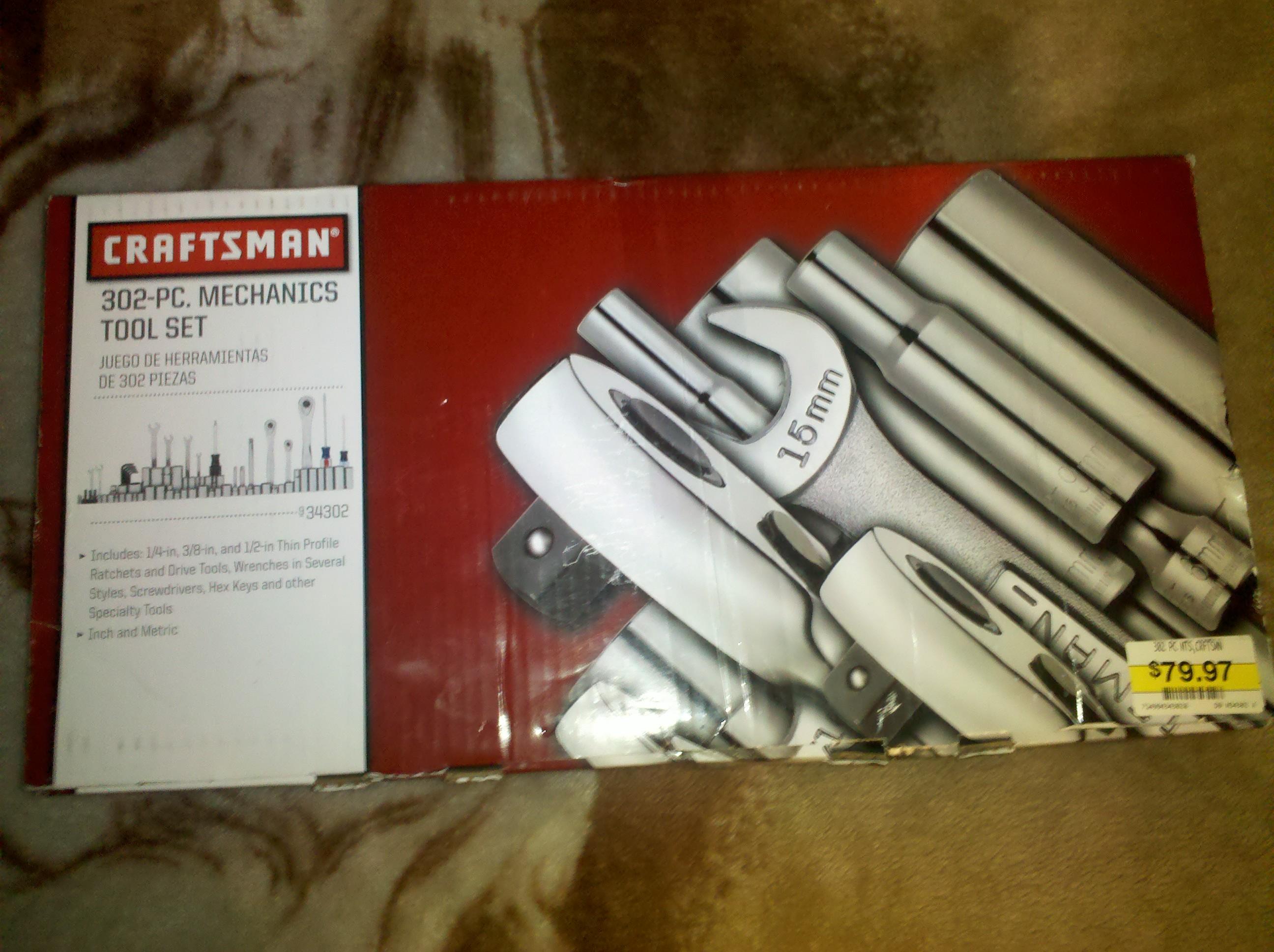 Clearance: Sears Craftsman 302 pc. Mechanics Tool Set $79.97 Regular $399.99 B&M