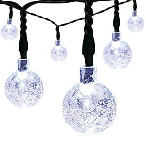 Solar Christmas String Lights,easyDecor 30 LED Ball 21ft White 8Mode Waterproof Decorative Globe Light $5.49+FS w/prime@Amazon.