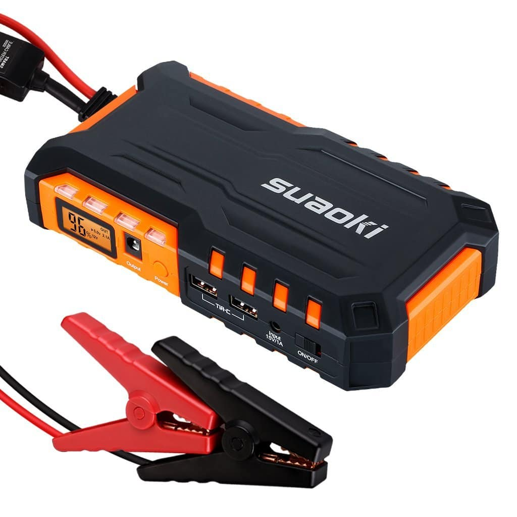 Suaoki Portable Jump Starter Power Banks With Built-in