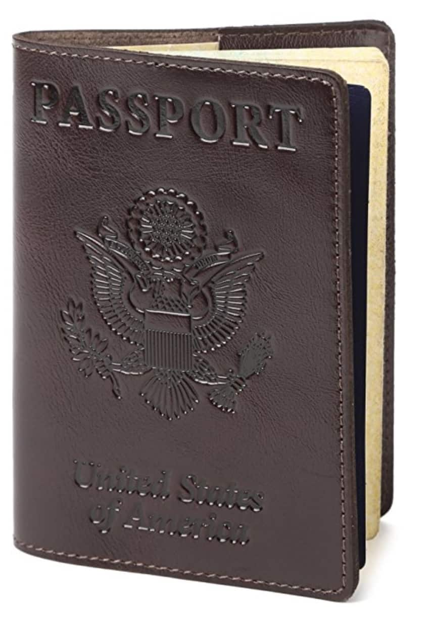 Leather Passport Cover -43% // Many colors $7.99