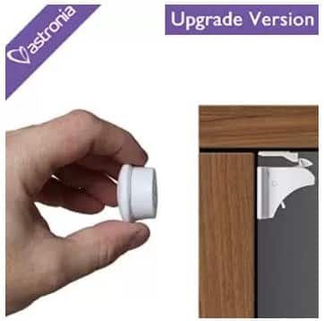 Astronia Safety Baby Magnetic Cabinet Locks (4 Locks + 1 Key) $3.99 AC Price Now! + Free Shipping @Amazon.com