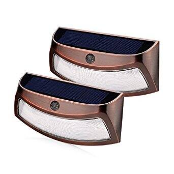 Solar Lights Outdoor, Wireless Waterproof LED Solar Lights (2 Pack, Warm White ) - $14.69 (with free shipping over 25$)