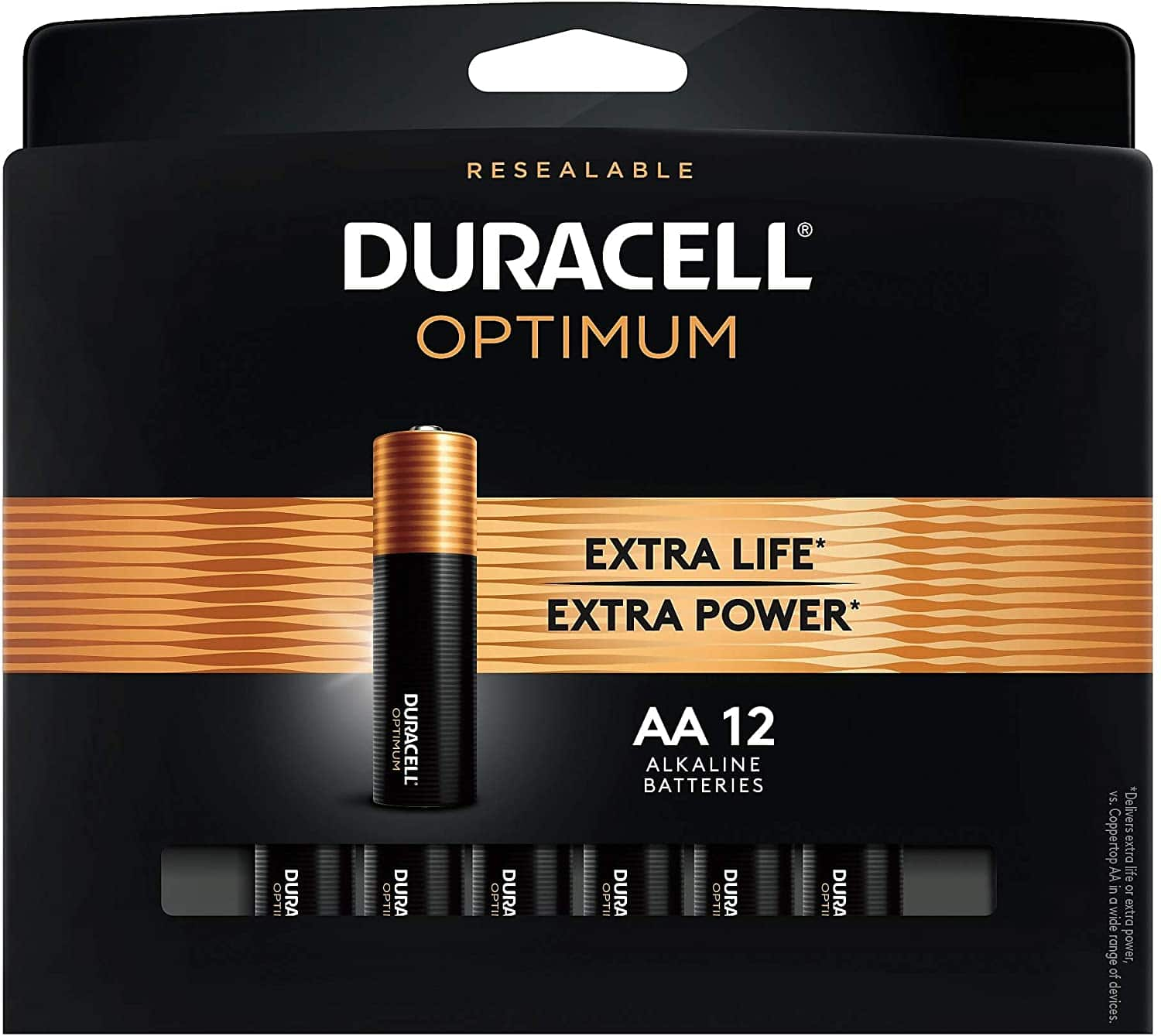 12-Pack Duracell Optimum AA/AAA Batteries + 100% Back in Rewards