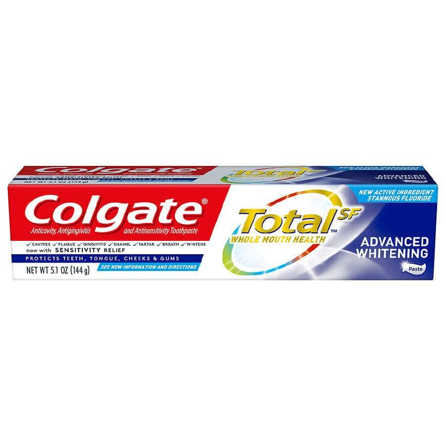 Colgate Total Toothpaste Advanced Whitening Paste 5.1oz + 4000 Balance Rewards Points, 2 for $4 + Free Store Pickup