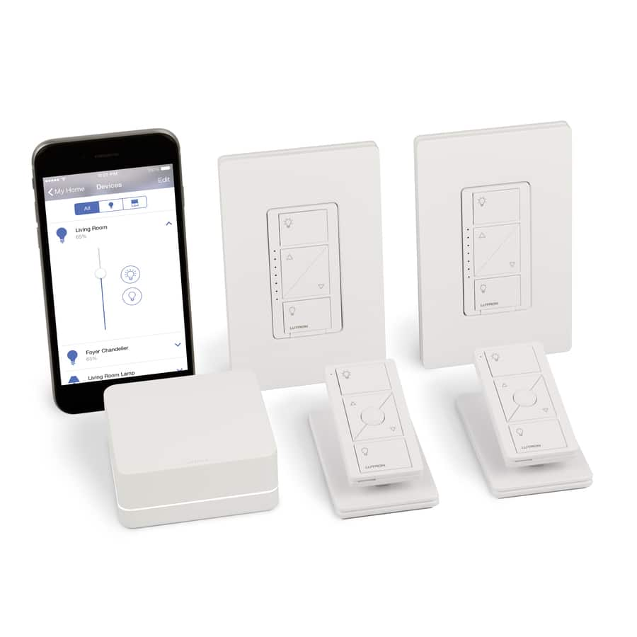 Lutron Caseta Home Automation Smart Kit- P-BDG-PKG2W - Normally $200.00 - on sale at Lowes for $47.49 - YMMV