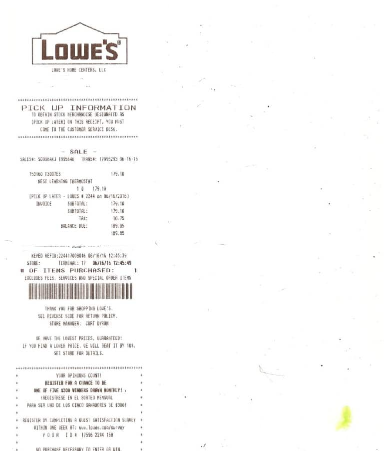 Nest Gen 3 Thermostat at Lowes $179.10 w/ Staples PM YMMV