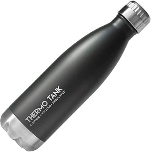 Thermo Tank Insulated Stainless Steel Water Bottle - Ice Cold 36 Hours! Vacuum + Copper Technology - 17 Ounce $10.83