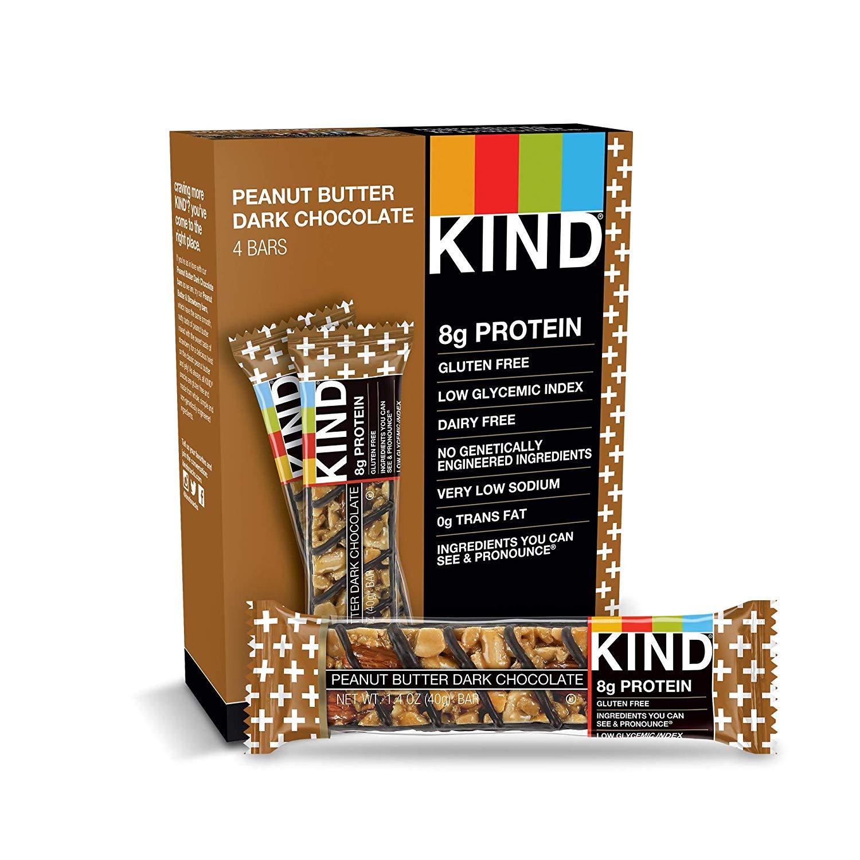 KIND Bars, Peanut Butter Dark Chocolate, 8g Protein, Gluten Free, 1.4 oz Bars, 48 Count $23.9