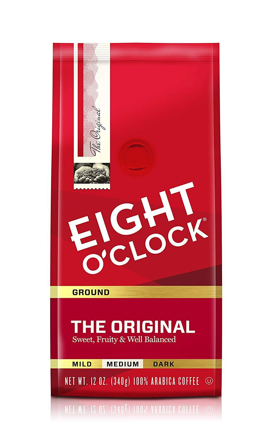 Eight O'Clock Ground Coffee, The Original, 12 Ounce (Pack of 6) $14.97