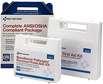 First Aid Only 90765 Complete ANSI/OSHA Compliance Package [Plastic, Not Weatherproof, Type I / II, Class A+] $28.49