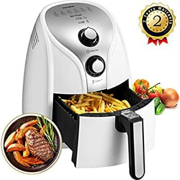(Lightning Deal) Comfee 1500W Multi Function Electric Hot Air Fryer with 2.6 Qt. Removable Dishwasher Safe Basket (White) $60