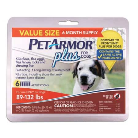 Walmart PetArmor Plus (89 to 132 Pounds)  6 month supply - 26.99 $27
