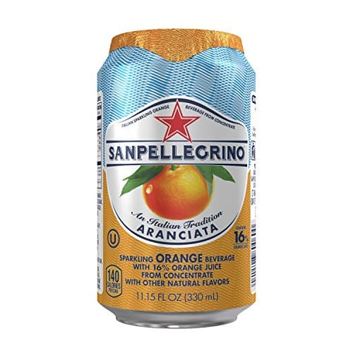 San Pellegrino Sparkling Fruit Beverages, Back Again! Aranciata/Orange 11.15-ounce cans (Total of 24) For $15 + 20% clip the Coupon