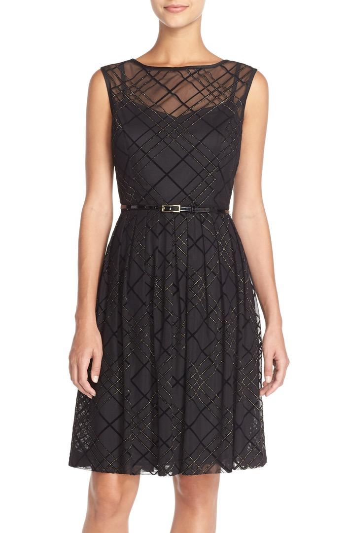 Ellen Tracey Plaid Mesh Fit & Flare Dress $76.80 + fs @nordstrom.com