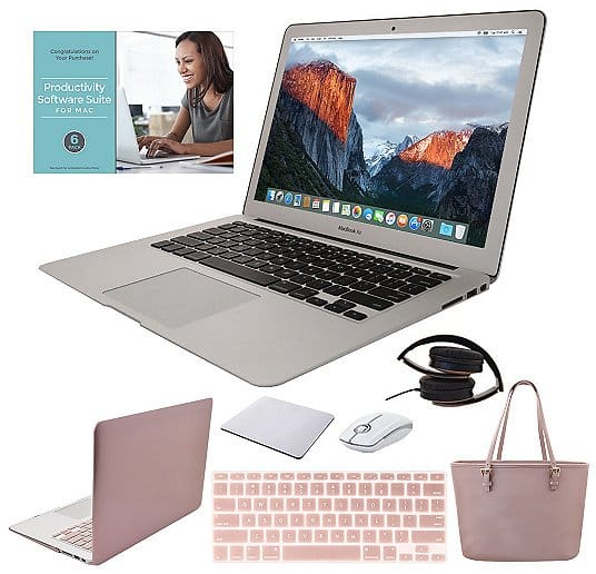 """MacBook Air 13"""" 128GB Laptop w/ Clip Case, Tote Bag & Accessories $1,149.00 + $15.72 S&H"""