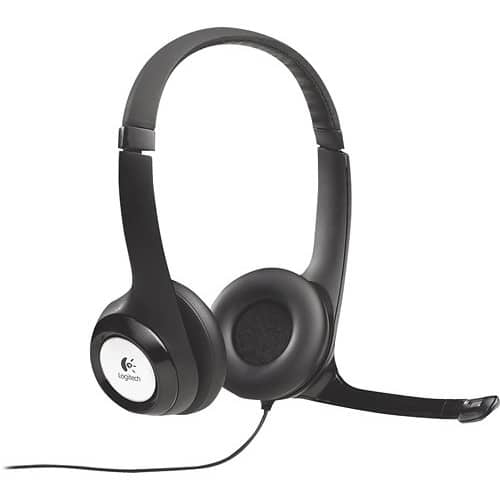 Logitech USB Headset H390 with Noise Cancelling Mic $17.99