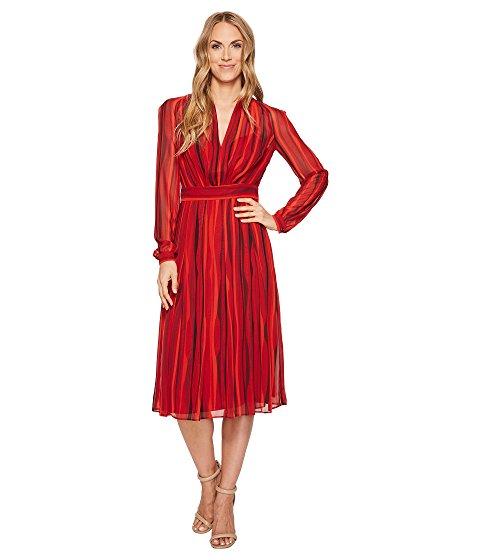 Anne Klein Print Georgette Long Sleeve V-Neck Fit & Flare Dress $94.99 + fs