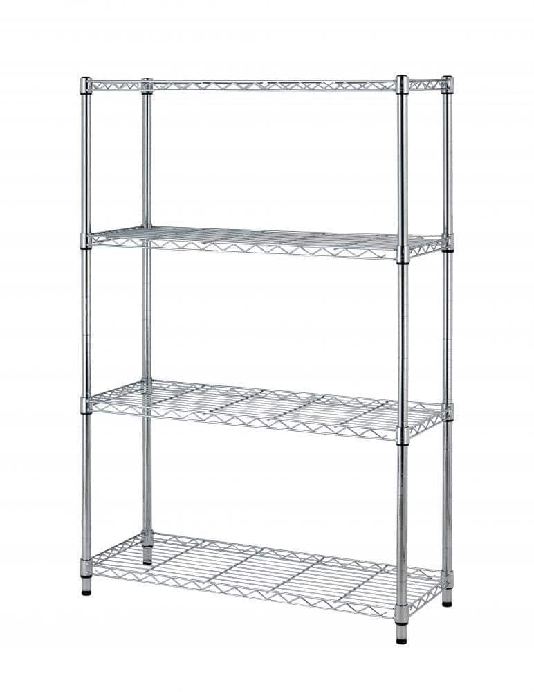"36""x14""x54"" 4 Tier Layer Shelf Adjustable Steel Wire Metal Shelving Rack T54 for $29.99 at ebay"