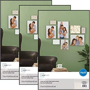 Mainstays 11x17 Format Picture Frame, Set of 3 $11
