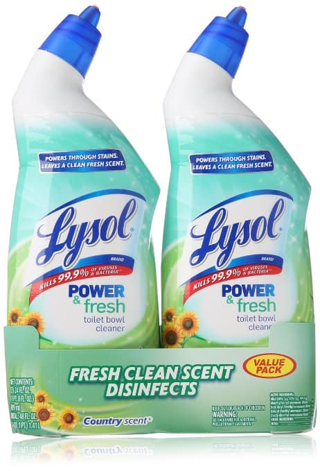 Lysol Clean & Fresh Toilet Bowl Cleaner, Cling Gel, Country Scent, 24 oz, Pack of 2 $3.72+FS w/ Prime Pantry @Amazon.