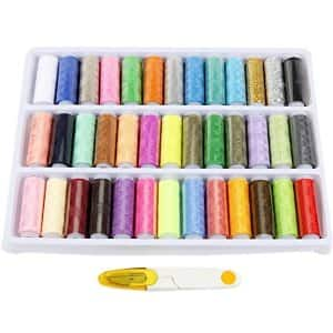 39 Spools Rainbow Polyester Sewing Thread Box Kit Set for Quilting Stitching and Hand Sewing Multicolor $5.99+FS w/prime@Amazon.