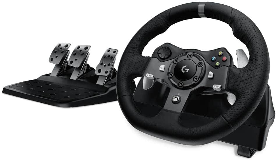 Logitech G920 Dual-Motor Feedback Driving Force Racing Wheel with Responsive Pedals for PC  Xbox One  -  $234.89 @ Amazon.com