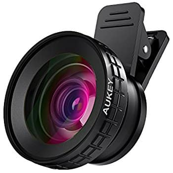 0.45X Wide Lens and 12.5X Macro Lens Attachment Clip-on Cell Phone Camera Lenses Kit for iPhone 7 6s 6 5s, Samsung Galaxy, Android Smartphones $7.92 AC at Amazon