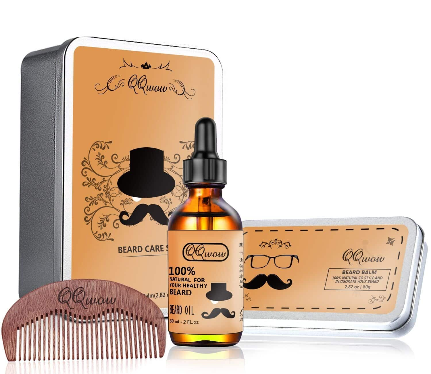 Beard Kit for Mens Grooming and Beard Care Includes: Oil, Balm, Comb, Conditioner & Softener for $11.89