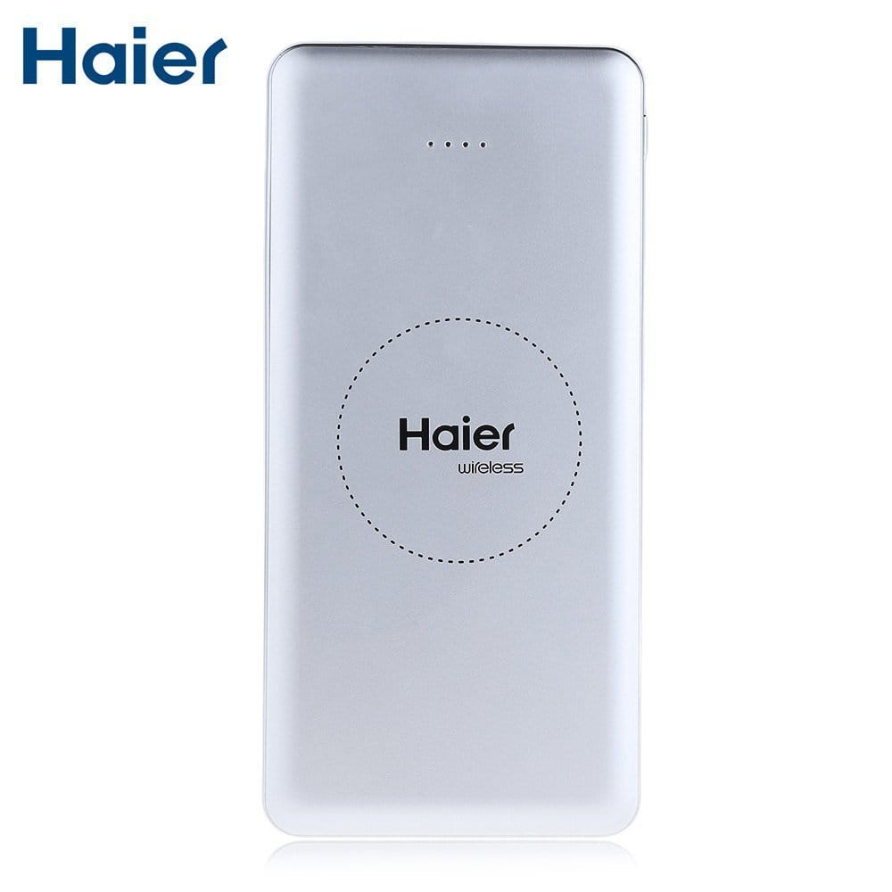 Haier portable 8000mAh Qi charger $5 with prime