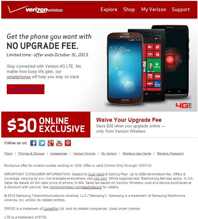 Verizon discount coupons