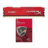 TigerDirect Deal: Kingston HyperX Fury Red 4GB DDR3 1866 Memory Module and McAfee 2015 Multi Access $10 MM AR + Shipping