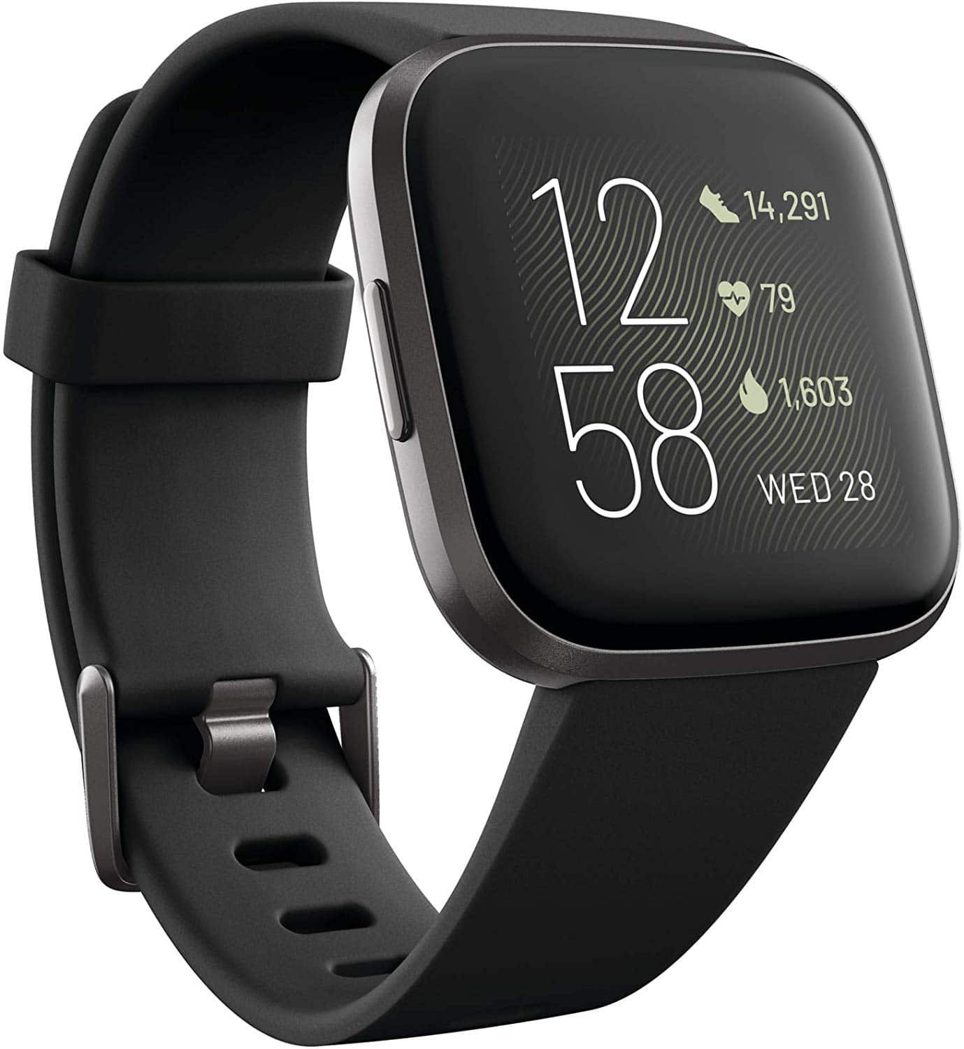 Fitbit Versa 2 Smartwatch with Heart Rate, Music, Alexa Built-in, Sleep & Swim Tracking, S & L Bands Included $129.95