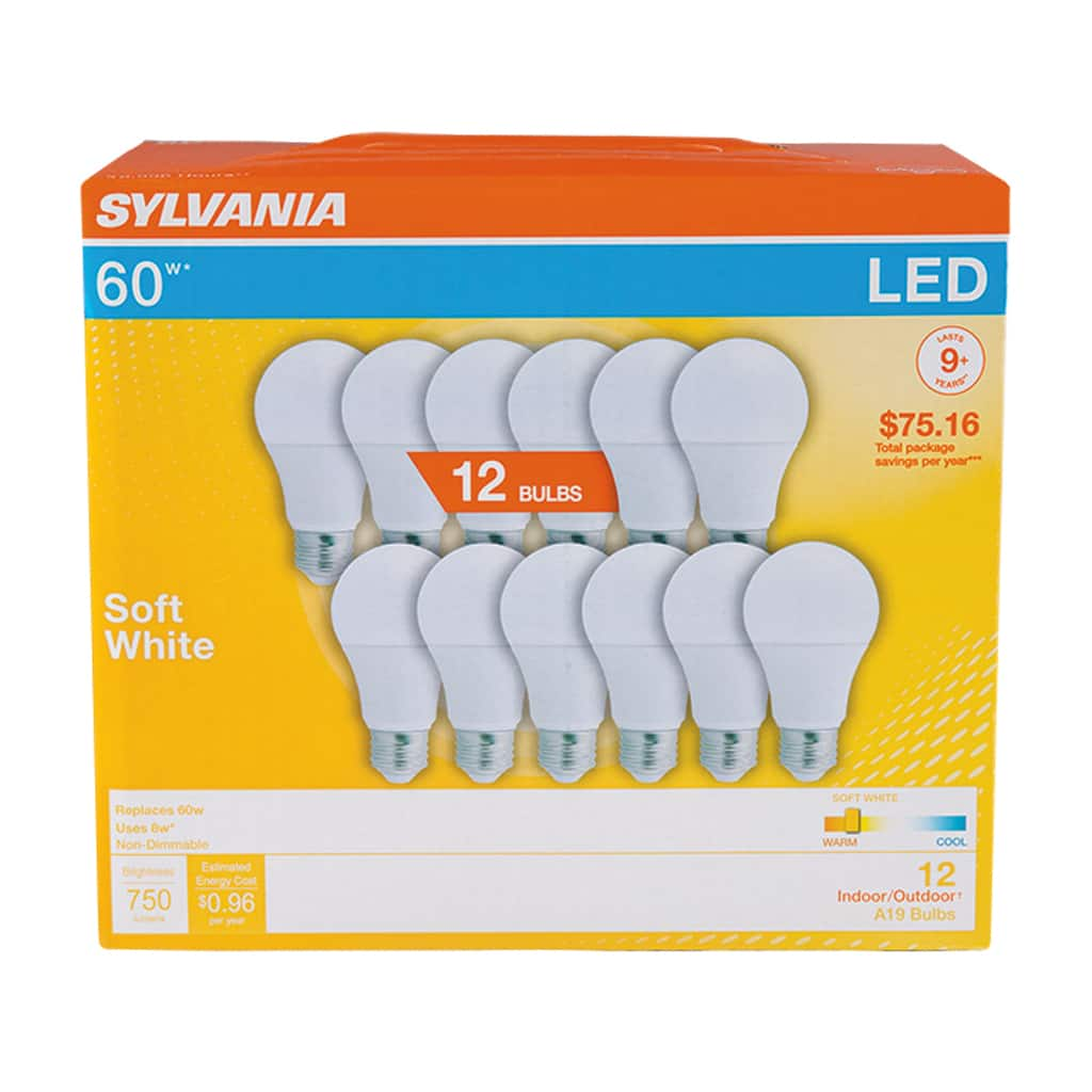 Walmart In-store Price: 12 Sylvania LED 60 Watt Light