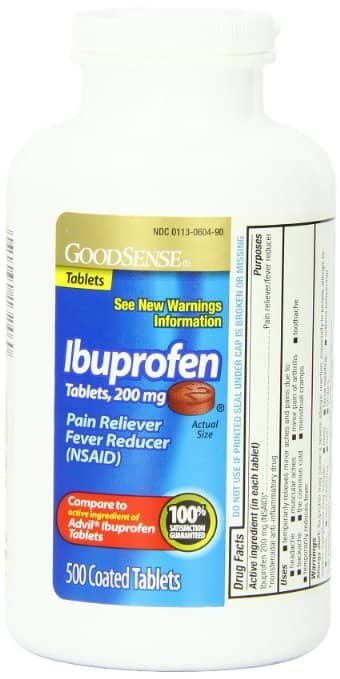 500 Count - 200 mg GoodSense Ibuprofen Pain Reliever/Fever Reducer Tablets (5% S&S $6.63)/(15% S&S $5.93)@Amazon.