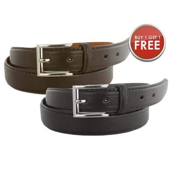 Men's Genuine Leather Belts - 2 for $7.99 - eBay