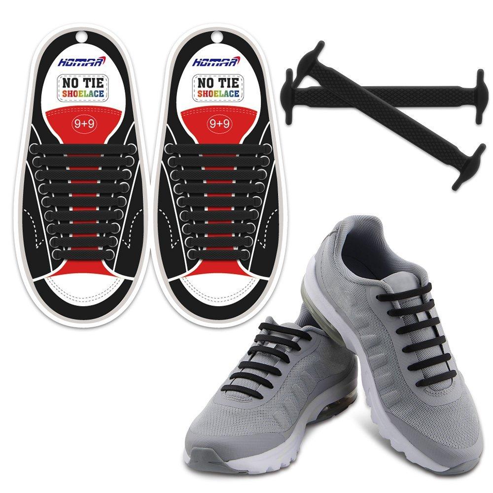 No Tie Shoelaces - Black - $5.43 AC - Free Prime Shipping