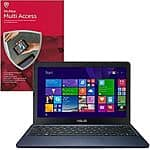 "McAfee Multi-Access Bundles: ASUS EeeBook X205TA Refurbished 11.6"" Notebook $79.99"