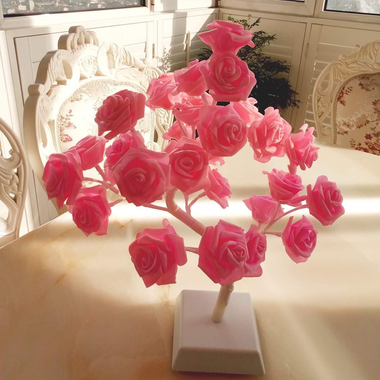 Bolylight Rose Flower Lamp Night Light Centerpiece Table Lamp 1771
