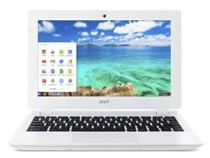 $99 Acer Chromebook, 11.6-Inch, CB3-111-C670 (Intel Celeron, 2GB, 16GB SSD, White) BACK @AMAZON