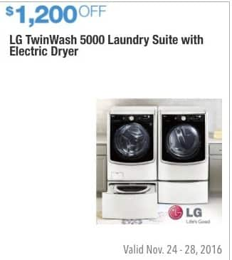 Costco Whole Black Friday Lg Twin Wash 5000 Laundry Suite With Electric Dryer 1 200