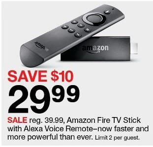 Target Black Friday: Amazon Fire TV Stick with Alexa Voice