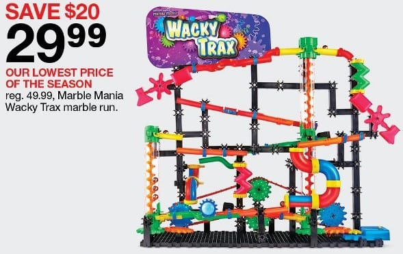 Target Black Friday Marble Mania Wacky Trax Marble Run