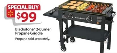 Walmart Black Friday: Blackstone 2-Burner Propane Griddle for $99.00