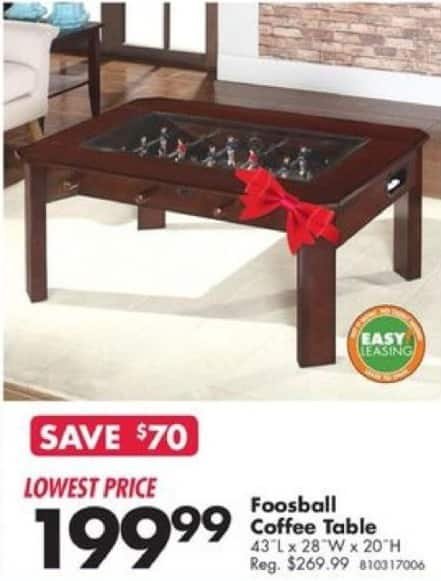 Big Lots Black Friday Foosball Coffee Table For