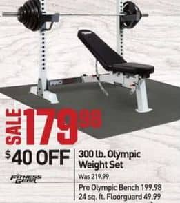 Dicks Sporting Goods Black Friday: Fitness Gear Pro Olympic Bench for $119.98