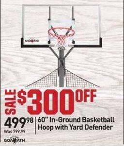 "Dicks Sporting Goods Black Friday: Goaliath 60"" In Ground Basketball Hoop with Yard Defender for $499.98"